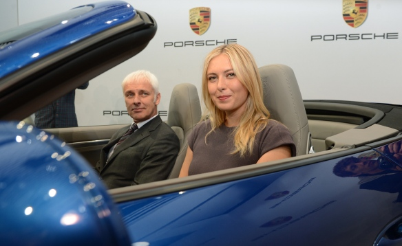 Maria Sharapova in Porsche