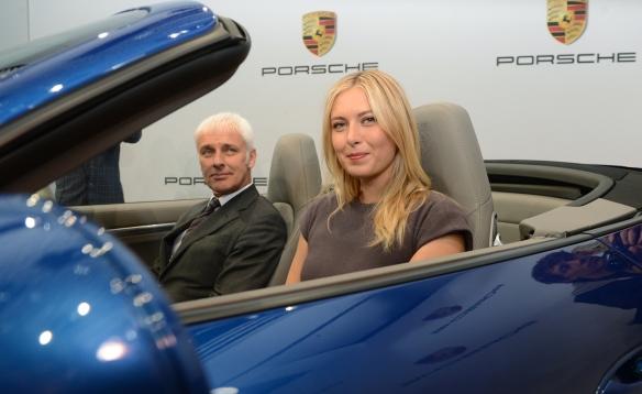 Maria Sharapova in Porsche
