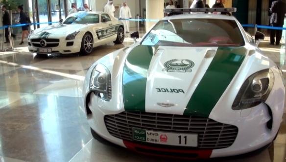 Aston Martin One-77 Joins The Dubai Police Patrol Cars